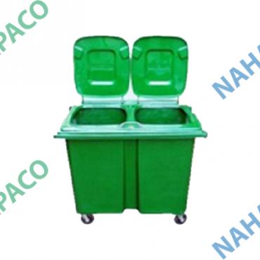 Thùng rác nhựa 660L (Liền đôi)