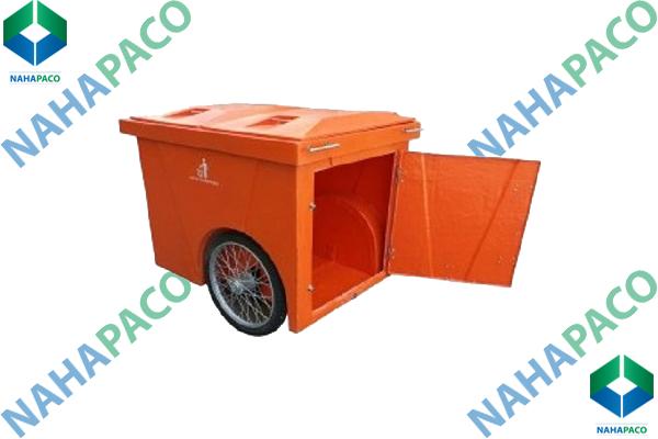 Thùng rác composite 1000L (Có 03 bánh xe)