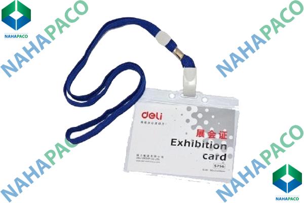 Bao thẻ nhựa dẻo DELI 5756
