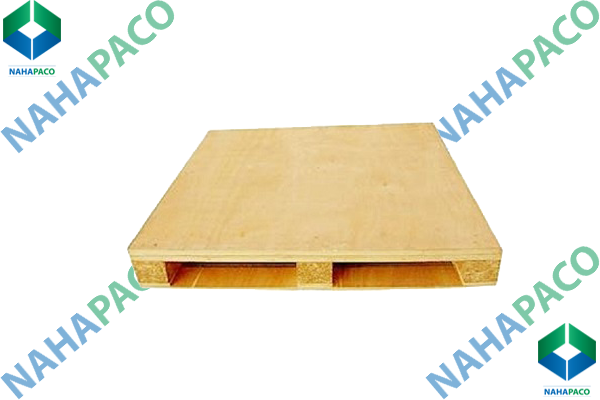 Pallet gỗ nâng mặt liền khối