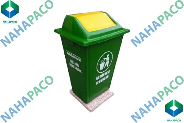Thùng rác composite 60L (Nắp lệch)