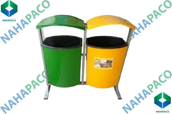 Thùng rác composite 80L (Treo đôi)