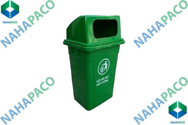 Thùng rác nhựa 90L (Nắp hở)