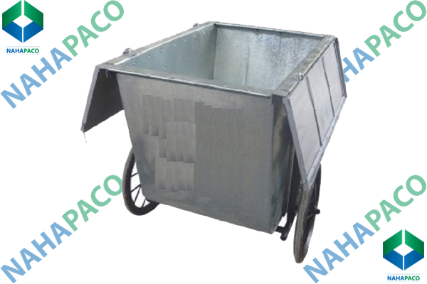 Xe gom rác 500L (Có nắp)